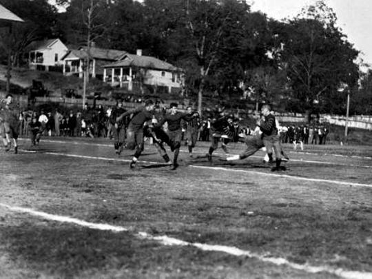 Centennial Field, now Cascades Park, was home to the Leon High football team and many others until bigger stadiums were built.