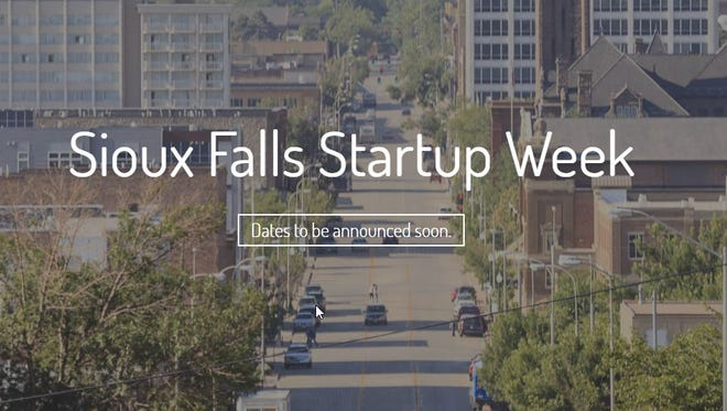 A screenshot of the Sioux Falls Startup Week website, archived on Sept. 29 by the Internet Archive Wayback Machine. The webpage is now blank.