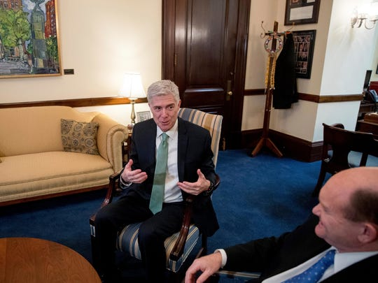 Supreme Court nominee Neil Gorsuch meets with Sen.