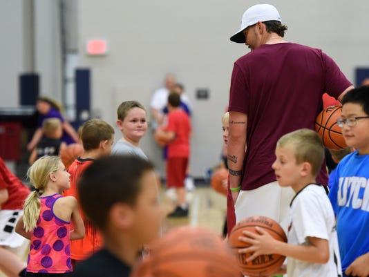 Legends for Kids - Legends Basketball Clinic - Sanford Pentagon - Bob Knight - Mike Miller