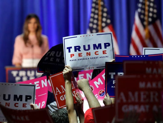 Supporters of Republican presidential candidate Donald