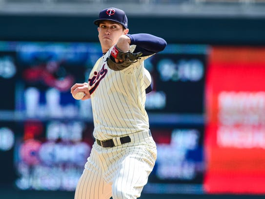 Minnesota Twins starting pitcher Kyle Gibson