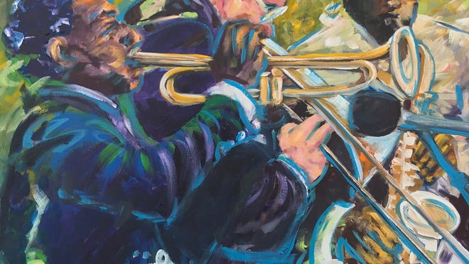 "Cris Reverdy's ""Jazz Players"" is part of the ""Eclectic"" exhibit at the Cultural Center of Cape Cod in South Yarmouth."