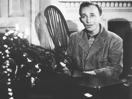 """Bing Crosby sings """"White Christmas"""" in the 1942 movie"""