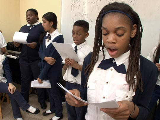 Students of the Hope Academy Charter School of Asbury