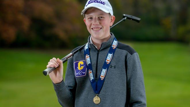 Peoria Christian's Weston Walker won the IHSA Class 1A state golf title.
