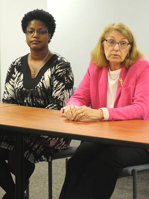 Renda Cline and Sheryl Weber debate issues prior to November election for Mansfield City Schools Board of Education.