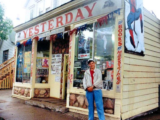 Register columnist Daniel Finney, shown here in 1991 at a comic store near Wrigley Field in Chicago, read comics most of his life. He thought his late father didn't understand until a 1980s convention made him understand just how much he did loved him.