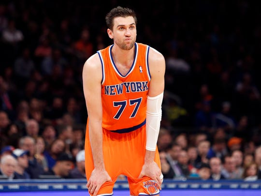 The Knicks' Andrea Bargnani during a game in 2013.