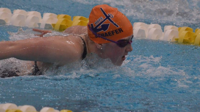 Hope's Emma Schaefer is defending MIAA Most Valuable Swimmer.