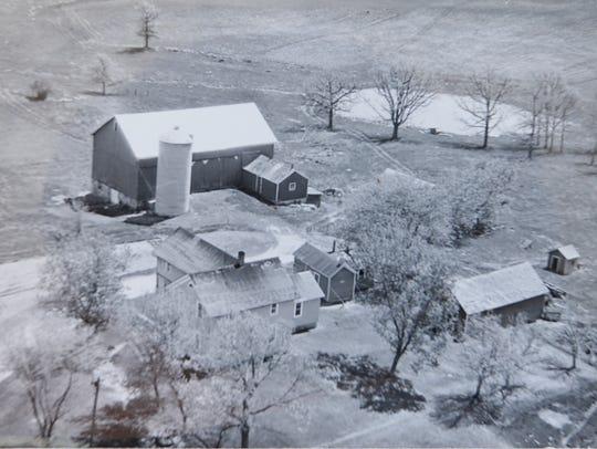 A Prohibition-era aerial view of a farm along Silica