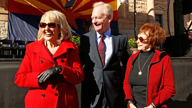 Republican former Arizona Govs. Jan Brewer, Fife Symington and Jane Dee Hull are endorsing U.S. Sen. John McCain, R-Ariz., who faces a contested GOP primary in his 2016 bid for a sixth Senate term.