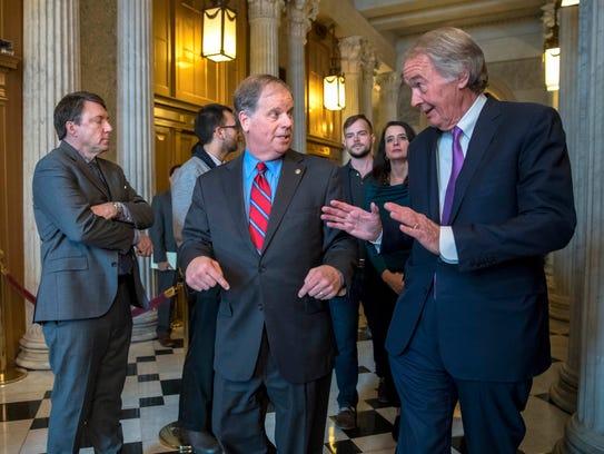 A day after being sworn in, Sen. Doug Jones, D-Ala.,