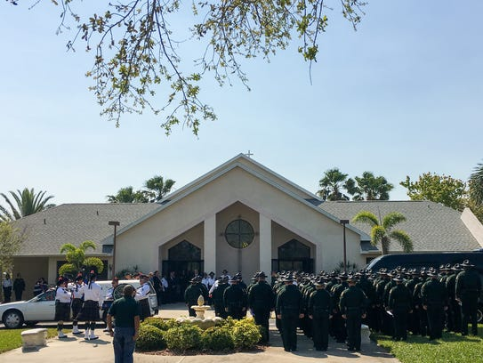 Law enforcement, family and friends gathered at Faith