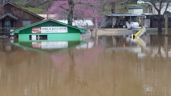 Port O Bistineau on Lake Bistineau is just one of the facilities that have succumbed to flood waters.