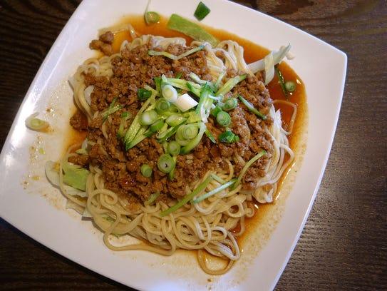Noodles with minced pork sauce at Nan Zhou Hand Drawn