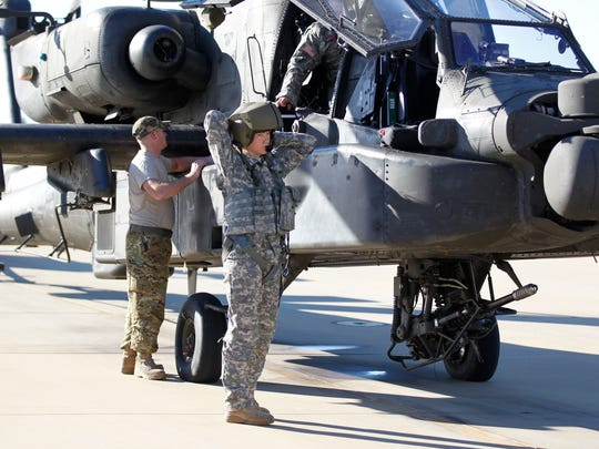 Former Marine Jessi McCormick served tours of duty in Iraq and Afganistan before joinng the Mississippi National Guard and now is the first female AH-64 Apache pilot in Mississippi.