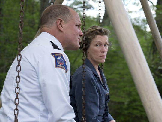"Woody Harrelson and Frances McDormand star in ""Three Billboards Outside Ebbing, Missouri."""