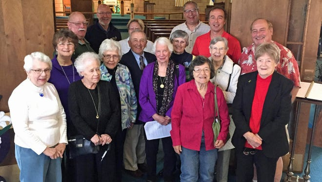 Members of Peace Lutheran Church, Port Clinton, gathered April 30 to celebrate the 50th anniversary of ground breaking for the new Peace Church Fellowship Hall.