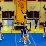 Oneonta varsity compete Sunday at the STAC Cheerleading Championships at Union-Endicott High School.