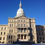 The exterior of the Michigan State Capitol in Lansing