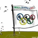 Editorial cartoon on Brazil Olympics and Zika