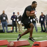 Savon Huggins, 2011 top recruit, reborn at Rutgers Pro Day