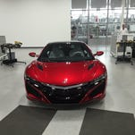 The 2017 Acura NSX at the automaker's Performance Manufacturing Center in Marysville, Ohio.