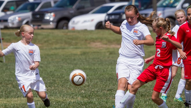 Members of the Regional Competitive Soccer League compete at the Little Valley Sports Complex Saturday, Aug. 29, 2015. St. George City planners aim to spend RAP tax funds on expanding the complex with the construction of two new soccer fields.
