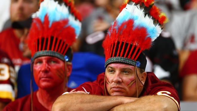 Washington Redskins look on in the fourth quarter during a game against the Arizona Cardinals.
