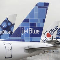 JetBlue planes at New York JFK Airport on Nov. 27, 2013.