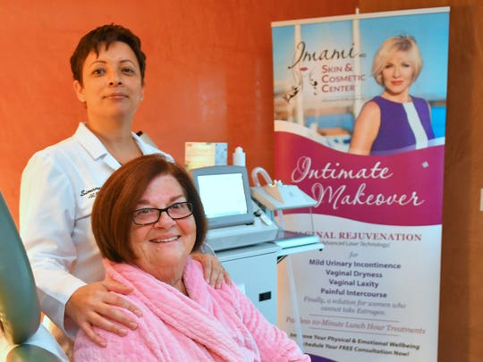 Brenda Reynolds and Simone Paul, ARNP/BC at Imani Skin & Cosmetic Center at TEPAS Healthcare in Melbourne.