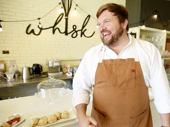 "Chef Blake Jackson, owner of Whisk Dessert Bar, will compete on Food Network's ""Bake You Rich."""