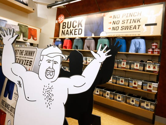 The interior of a Duluth Trading Company store in Iowa.