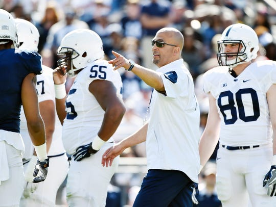 Penn State coach James Franklin could soon be on the