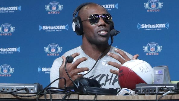 Former NFL wide receiver Terrell Owens visits the SiriusXM