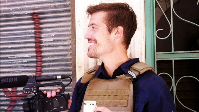 Journalist James Foley in Aleppo, Syria, in July 2012.