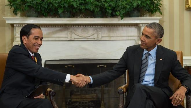President Obama and Indonesian counterpart Joko Widodo.