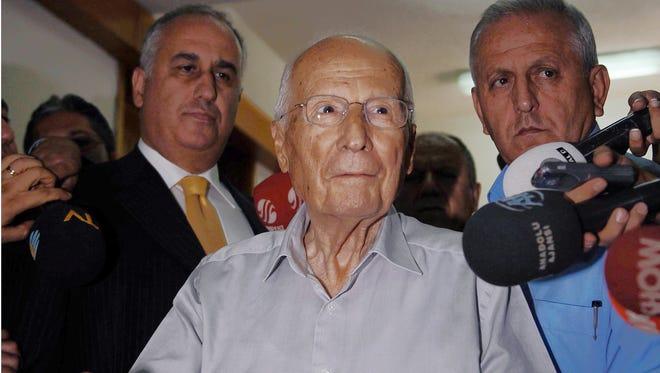 Kenan Evren casts his ballot during a referendum in Ankara, Turkey in 2010.