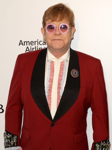 Not all of the stars were at the awards ceremony. Elton
