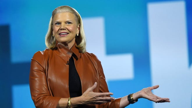 IBM Chairman, President and CEO Ginni Rometty delivers a keynote address at CES 2016