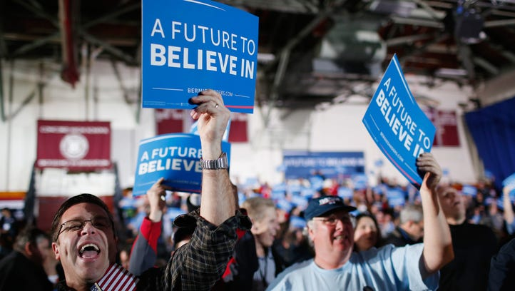 Bernie Sanders' supporters react to television reports