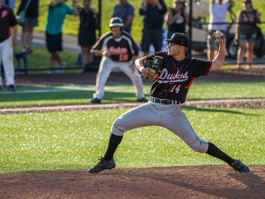 Nick Mongelli took to the mound and with this pitch,