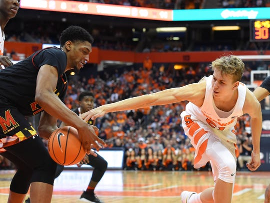Syracuse forward Marek Dolezaj, who is from Slovakia, is averaging 6.8 rebounds in just 25 minutes per game.