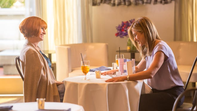 """Julia Roberts, left, and Jennifer Aniston in a scene from """"Mother's Day."""""""