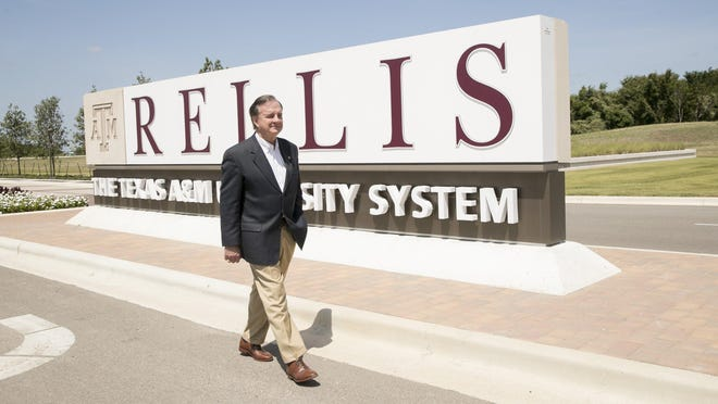 Texas A&M University System Chancellor John Sharp walks on the  Texas A&M  RELLIS Campus last year.