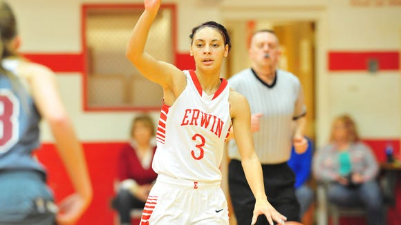 Kendra Griffin and the Erwin girls basketball team have had back-to-back undefeated regular seasons in the Mountain Athletic Conference.