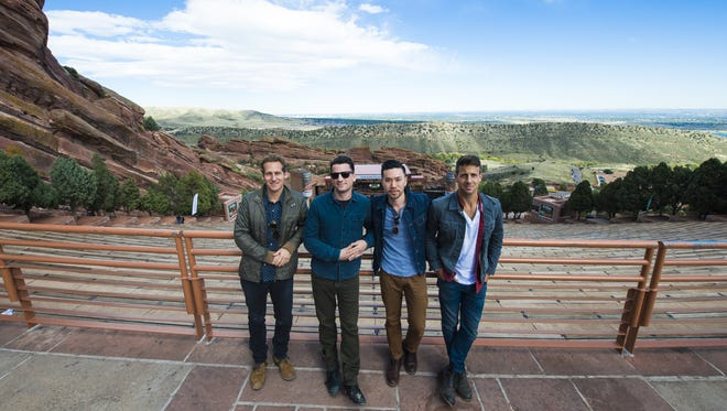 Members of the band O.A.R. at the legendary Red Rocks Amphitheatre.