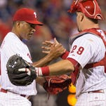 Phillies relief pitcher Dalier Hinojosa was called up as part of a September roster expansion.