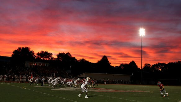 Playing under the lights, Tappan Zee defeated Nyack